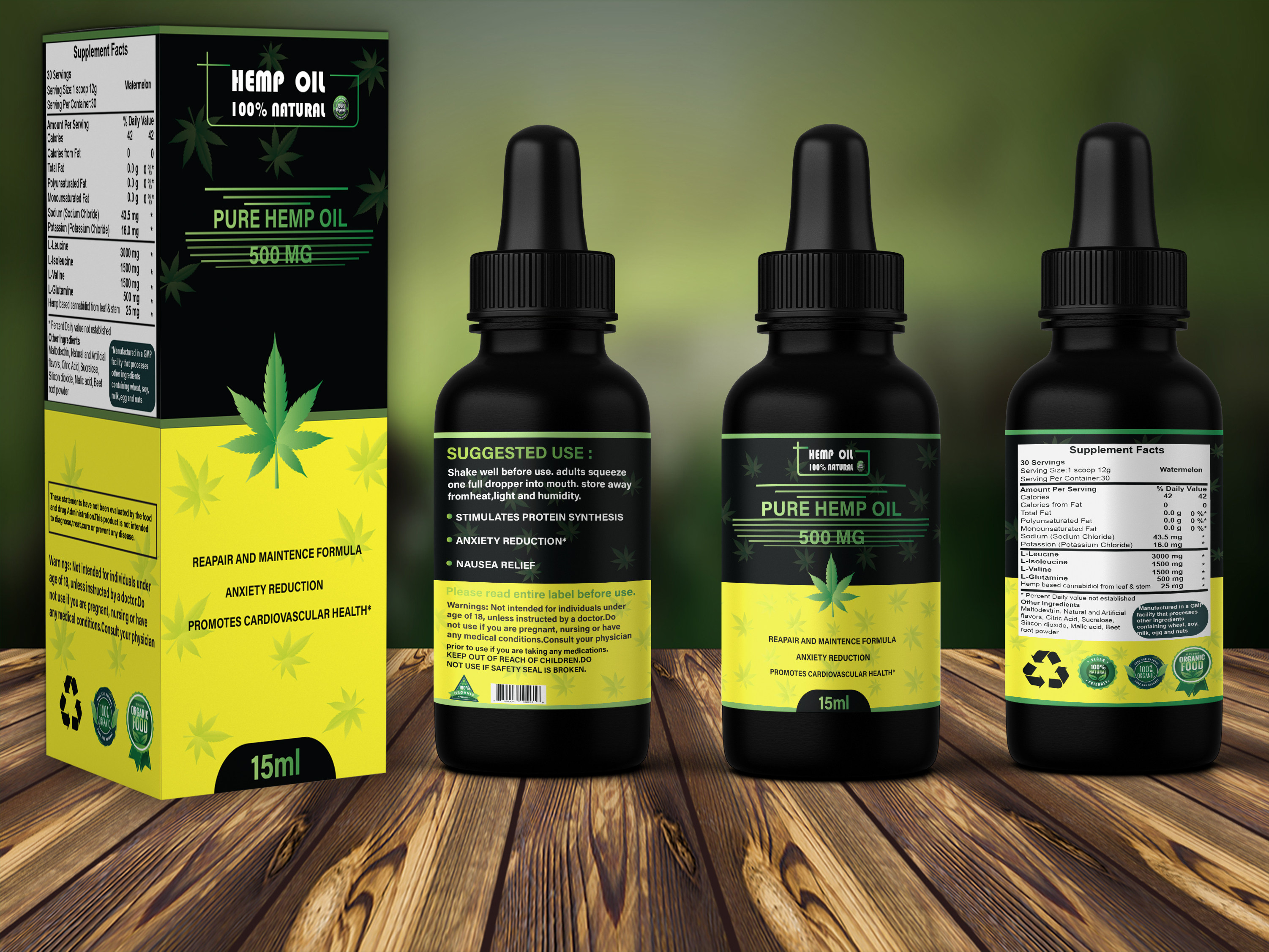 I will create label design, cbd label, hemp label, bottle label and product packaging