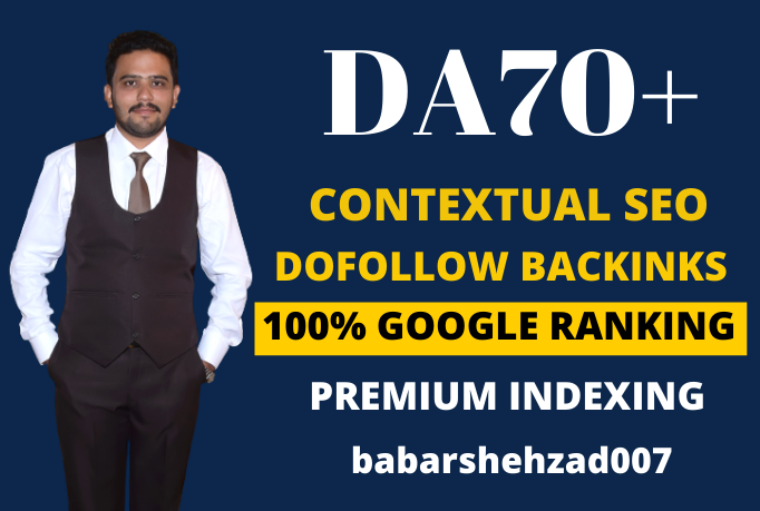 I will provide white hat contextual SEO dofollow high quality backlinks