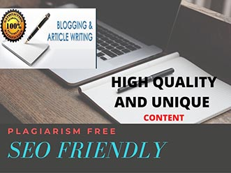 I will write high quality SEO content and optimized blog post or article