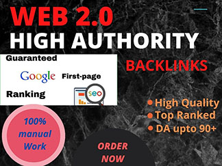 I will build high authority web 2.0 backlinks SEO ranking on Google top page