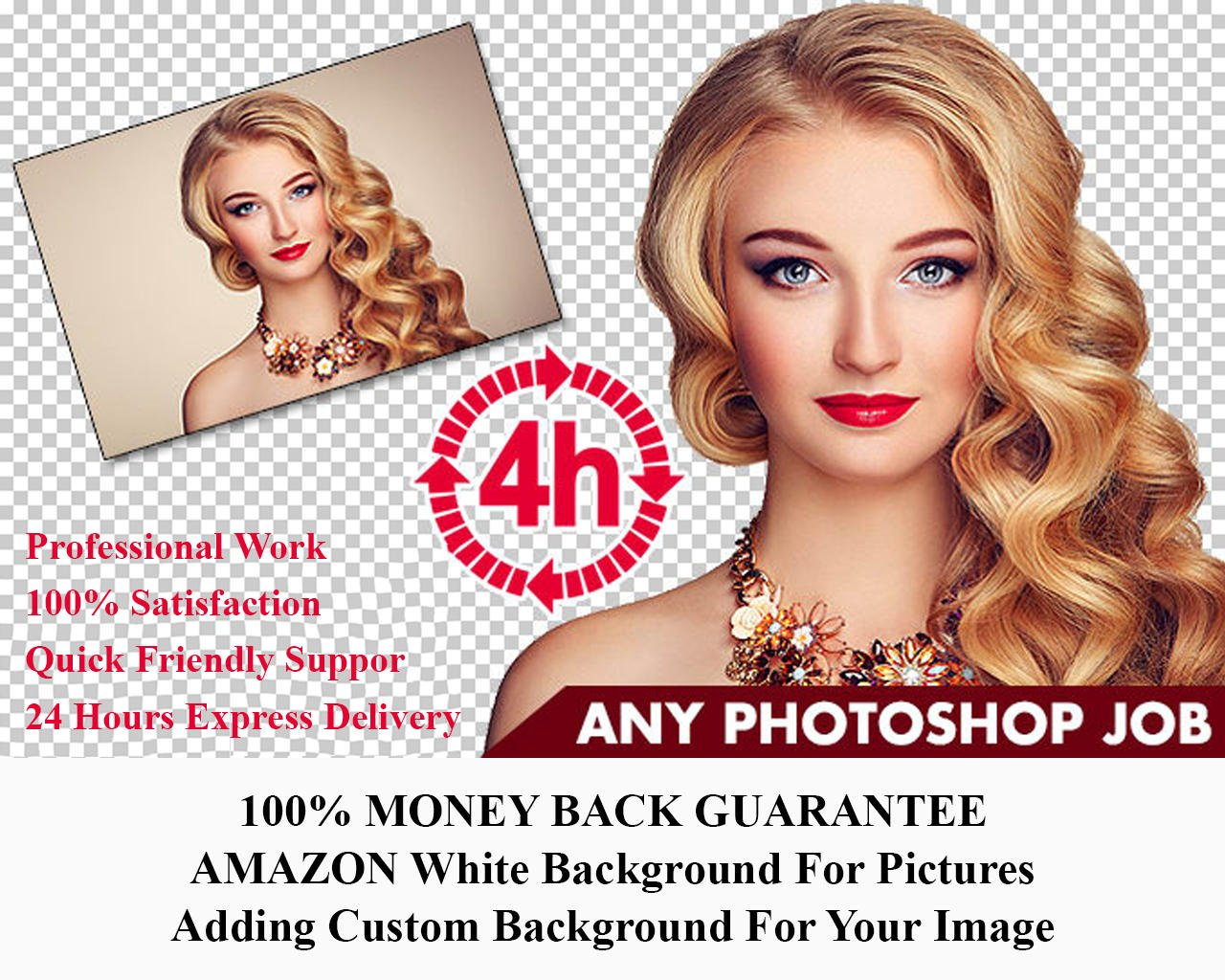 I will do 5 images background removal professionally