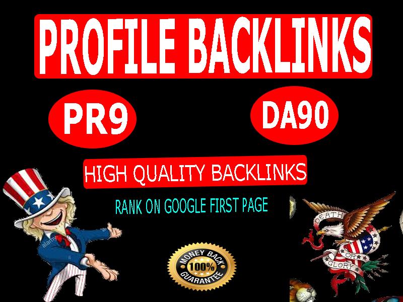 150 high quality seo authority do follow profile backlinks services