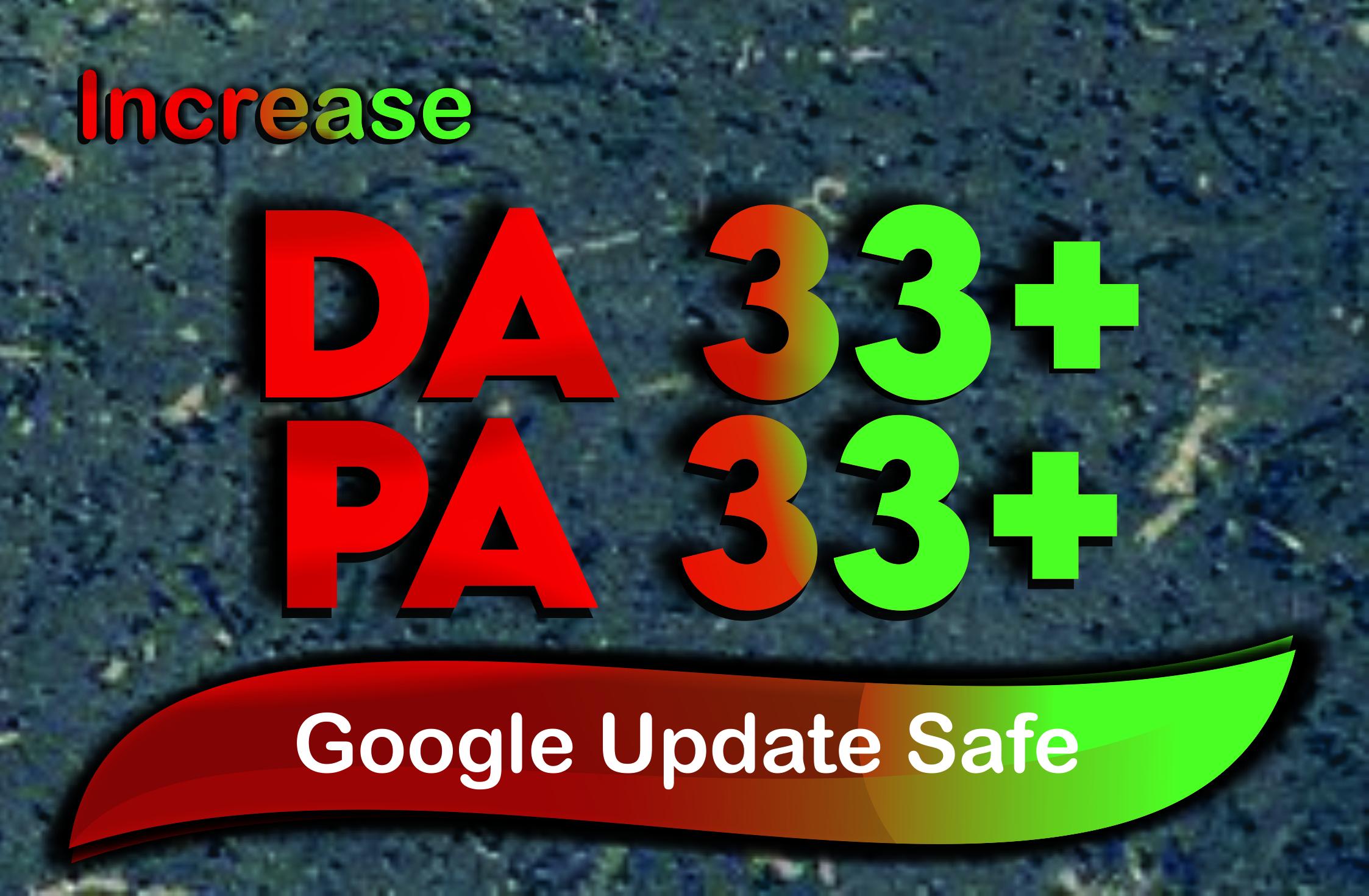Increase MOZ DA0 to DA33+ Permanent MOZ DA Service Google Update Safe No Spam