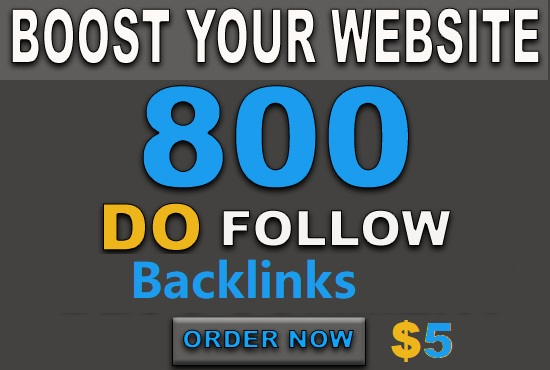 High quality 800 DoFollow backlinks