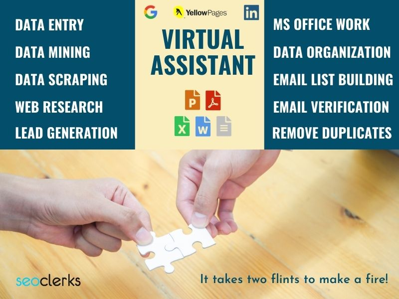 I will be Your VIRTUAL ASSISTANT as an EXTRA HAND for Your Business growth