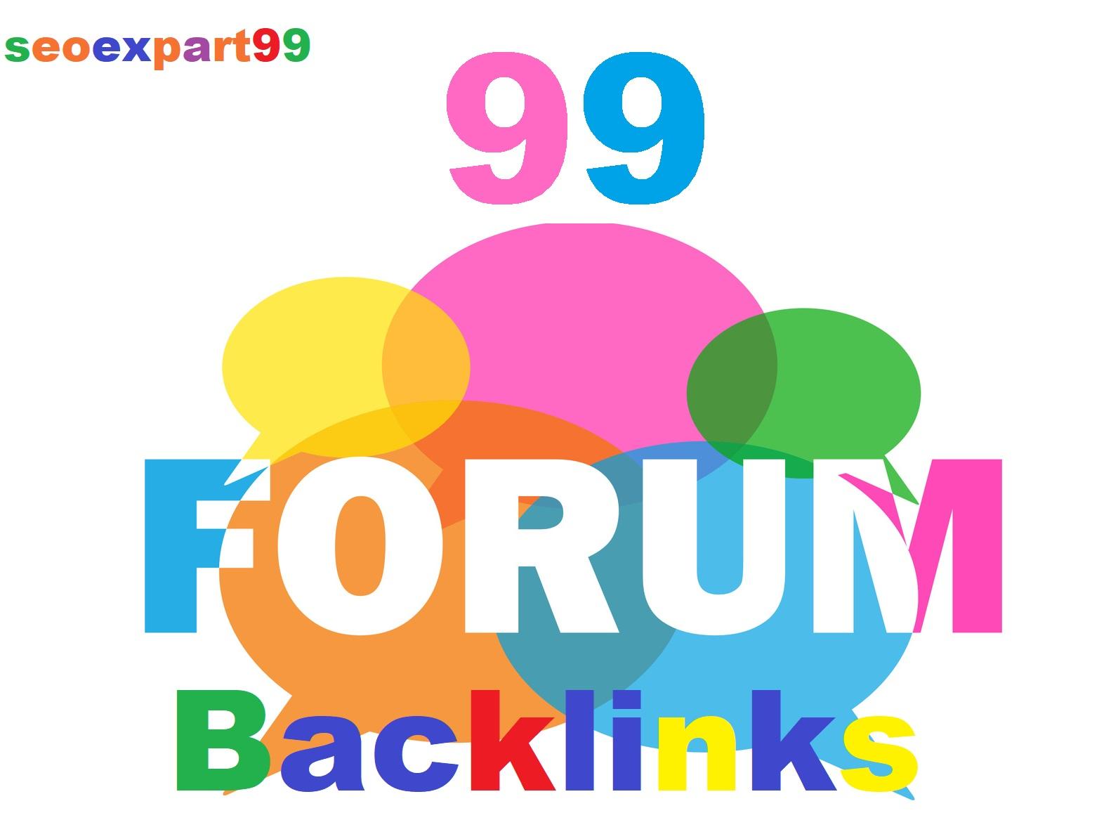 Create High Quality 99 Forum Profile Backlinks