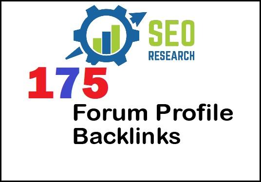 High quality 175 Forum Profile Backlinks