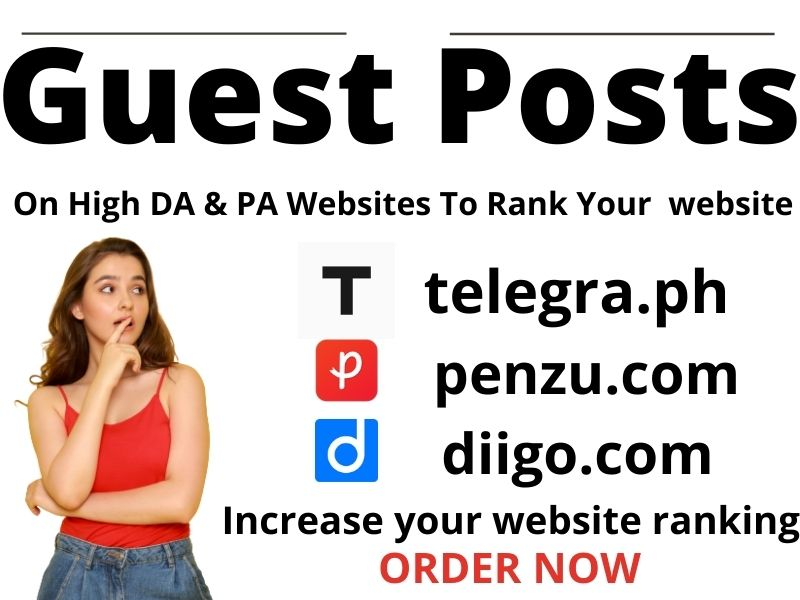 Write & Publish 3 niche related guest post 80+ unique blogs with permanent backlinks