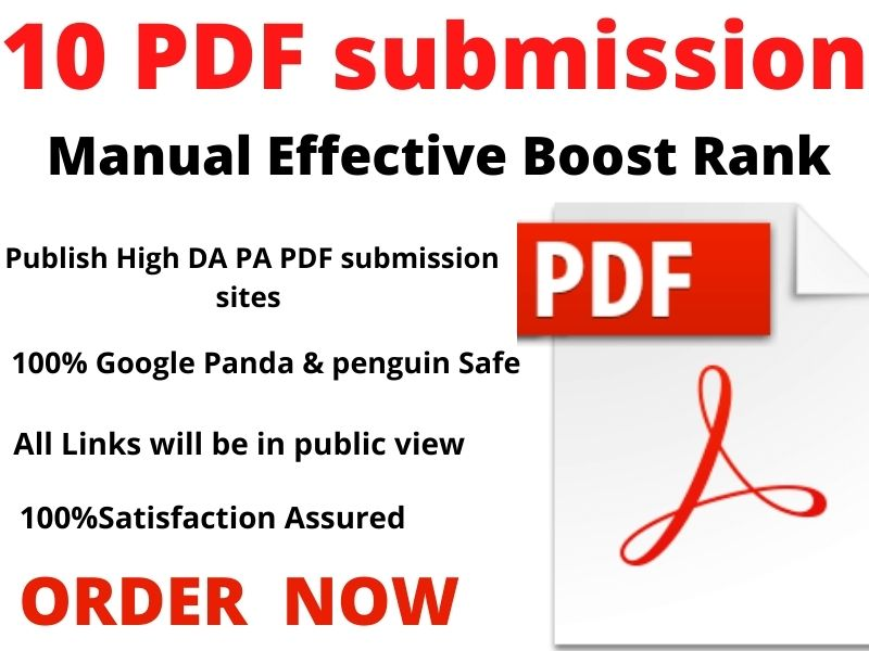 File or PDF Submission to Top 10 file and doc or Pdf sharing sites manually