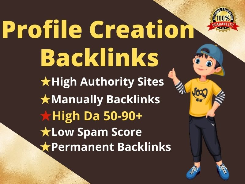 I will create manually 100 high-quality profile backlinks for boost SEO ranking