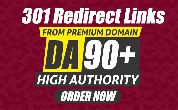 I will build DA90+ High Authority Editorial Backlinks via 301 Redirect