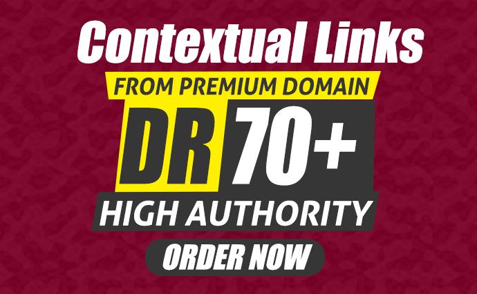 I will make 100 DR70+ SEO Dofollow Contextual Link Building Backlinks