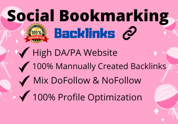 I will create manually 200 high quality social bookmark backlinks