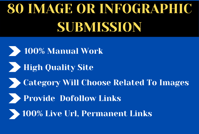 I will do 80 image or infographic submission on high quality sites