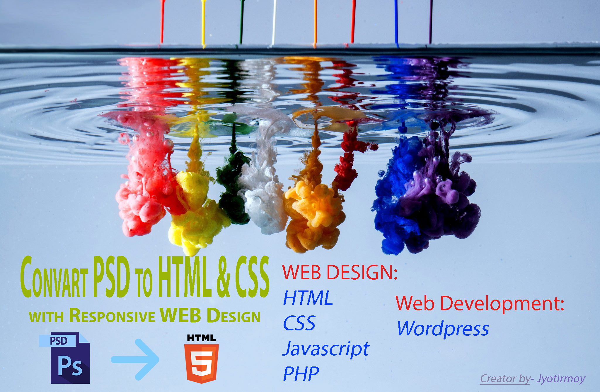 I Will convert PSD to HTML5 with CSS3 within 48 hours.