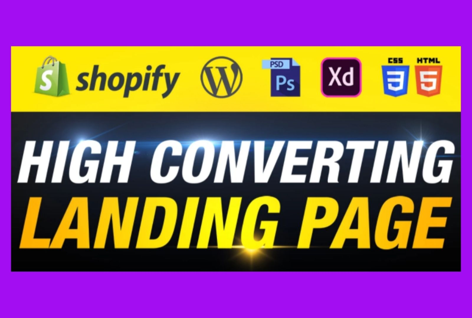 I will design attractive landing page using shopify or wordpress