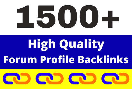 1500+ High Quality Forum Profiles Backlinks link building service