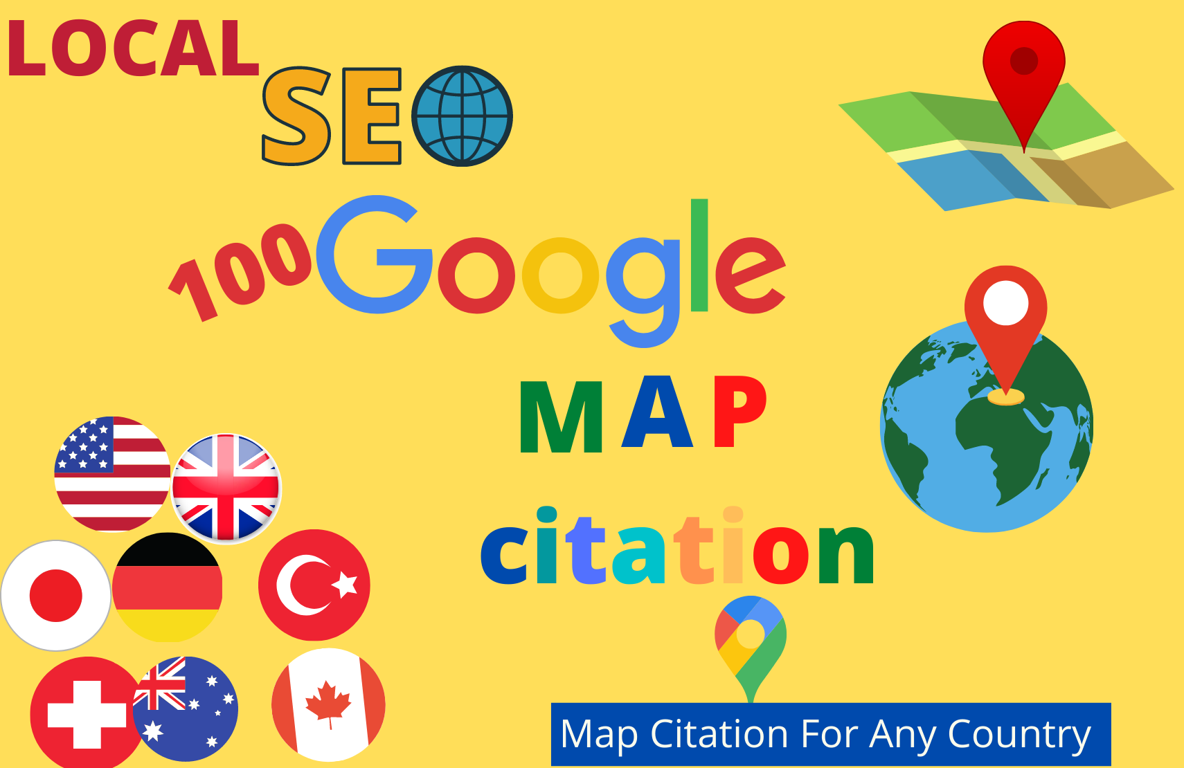 I will create 100 google map citation manually for local SEO