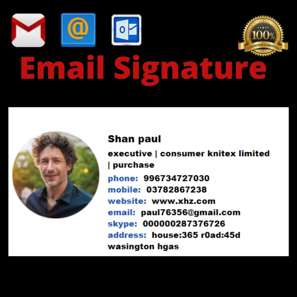 i will make clickable customize email signature for you