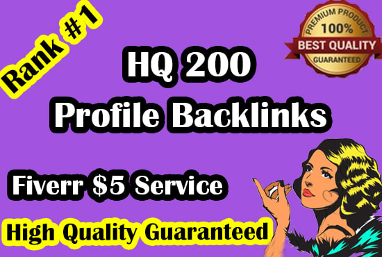manually create 200 high da profile backlinks for SEO ranking
