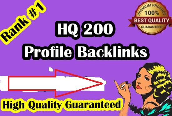 manually create 200 high da profile backlinks for SEO ranking