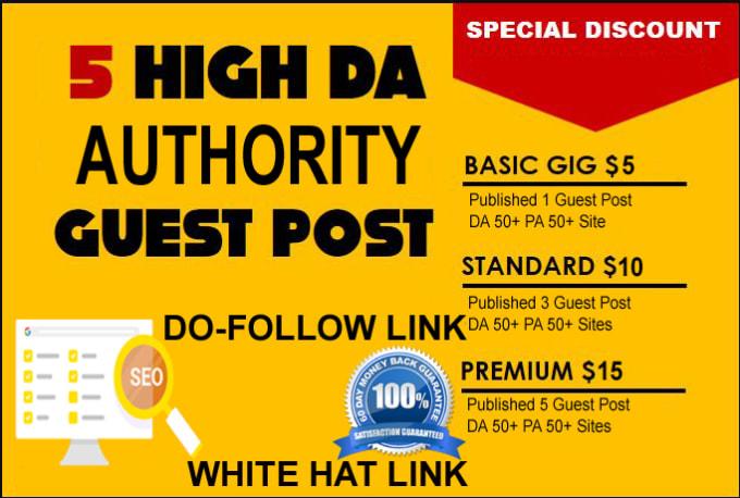 published 5 guest post high da 60+ website