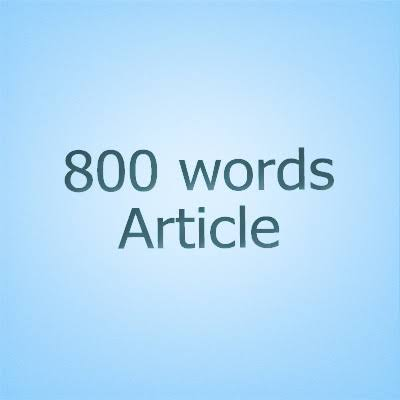 800word articles that is SEO optimized on any topic.