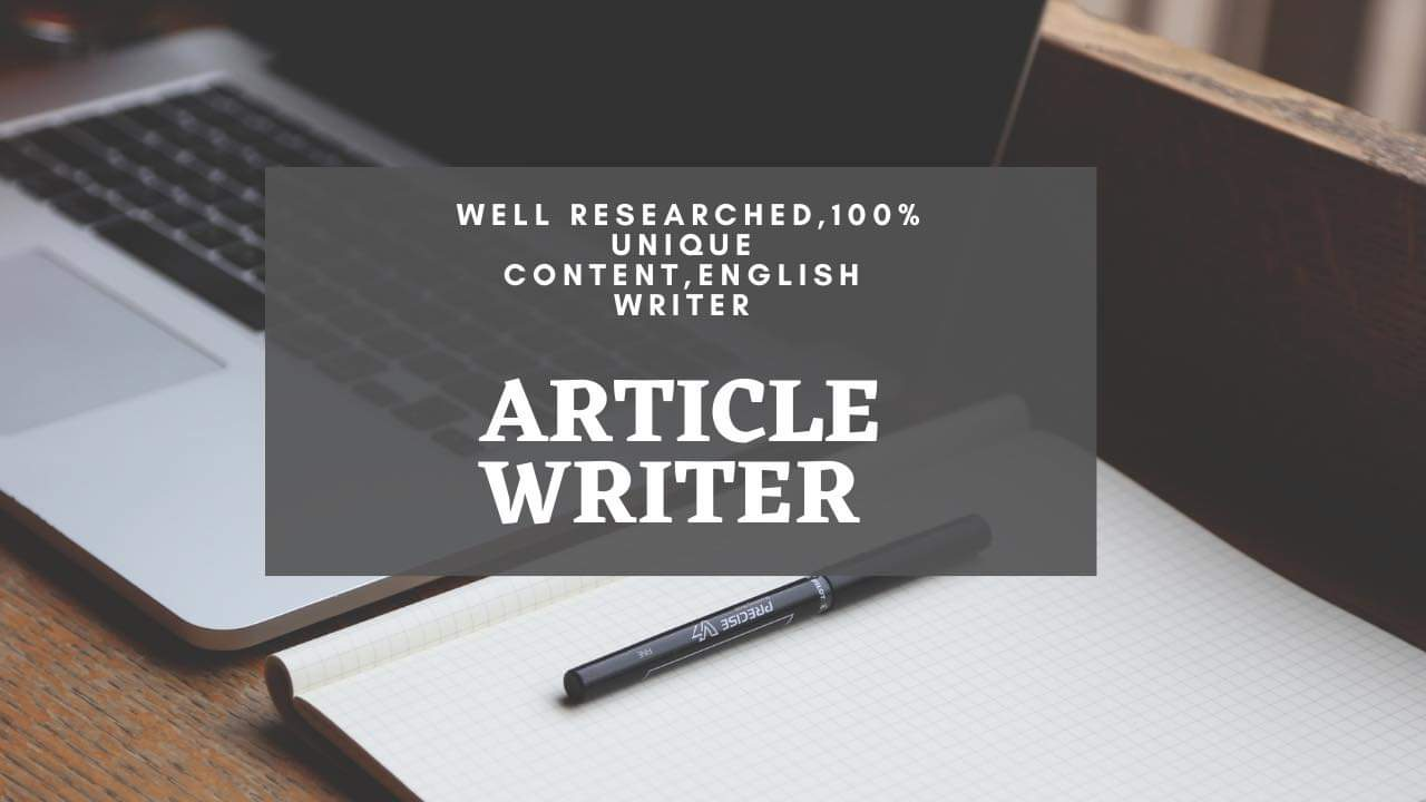 Well Researched Article writer.