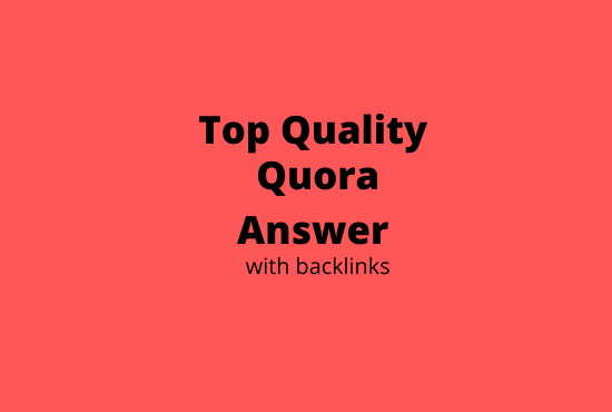 8 high quality quora answer with backlinks