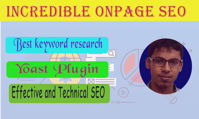 I will do Incredible One Page SEO