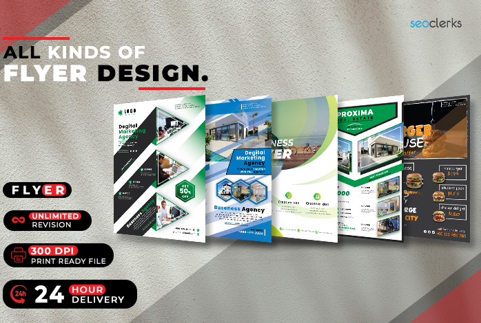 I will Professionally create all kinds of business and corporate flyer design