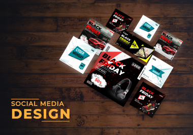 I will professionally create social media post,  cover and story template design.