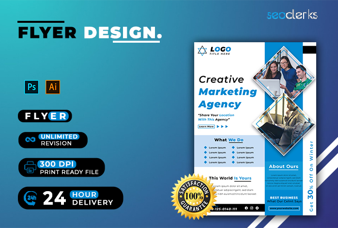 I will create all types of corporate and business flyer template