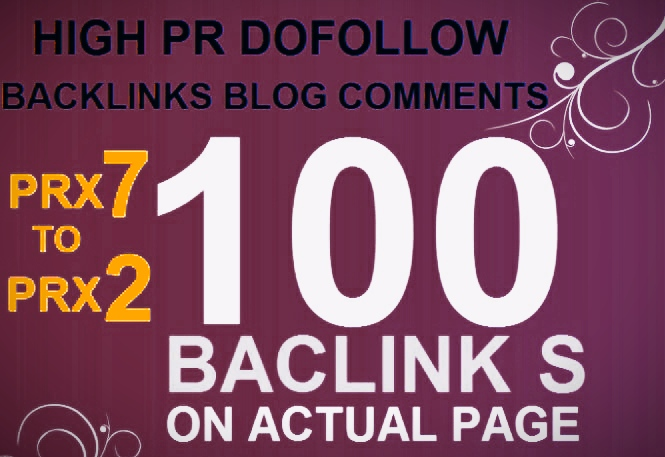 Create 100+ DOFOLLOW High PR2-PR7+ or DA 50+ Highly Authorized Google Dominating BACKLINKS