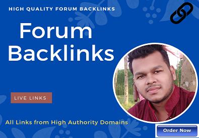 I will create 500 quality forum backlinks