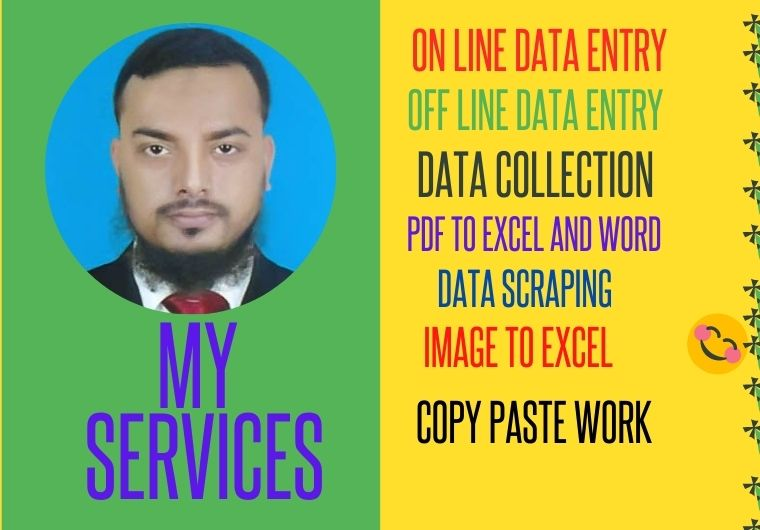 I will do data entry,  copy paste and web analysis for you