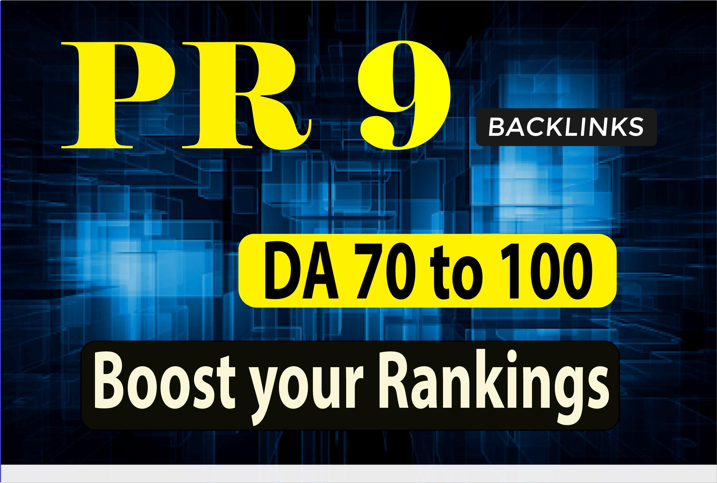 I will build high authority pr9 backlinks