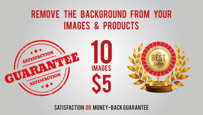 I will remove background from 10 images of your products