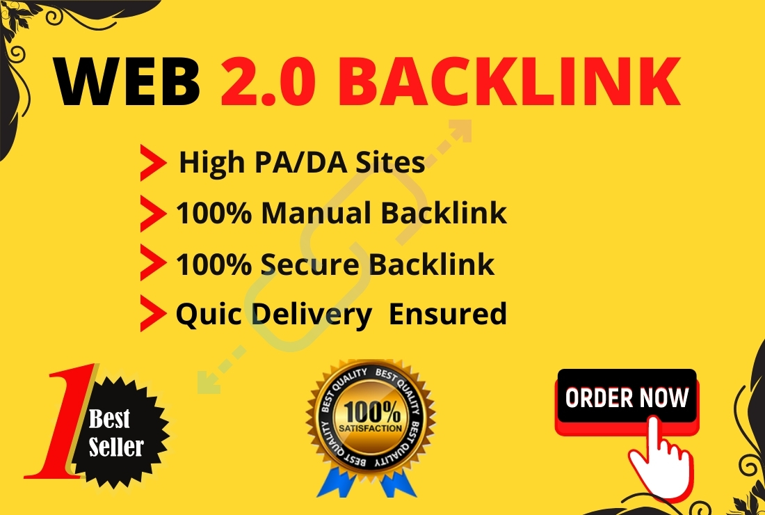 I will make you manually 50 web 2.0 high DA permanent blog backlinks with indexing facility