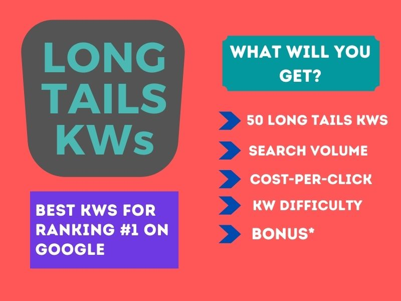 I will research 100 Long tails keywords in your niche