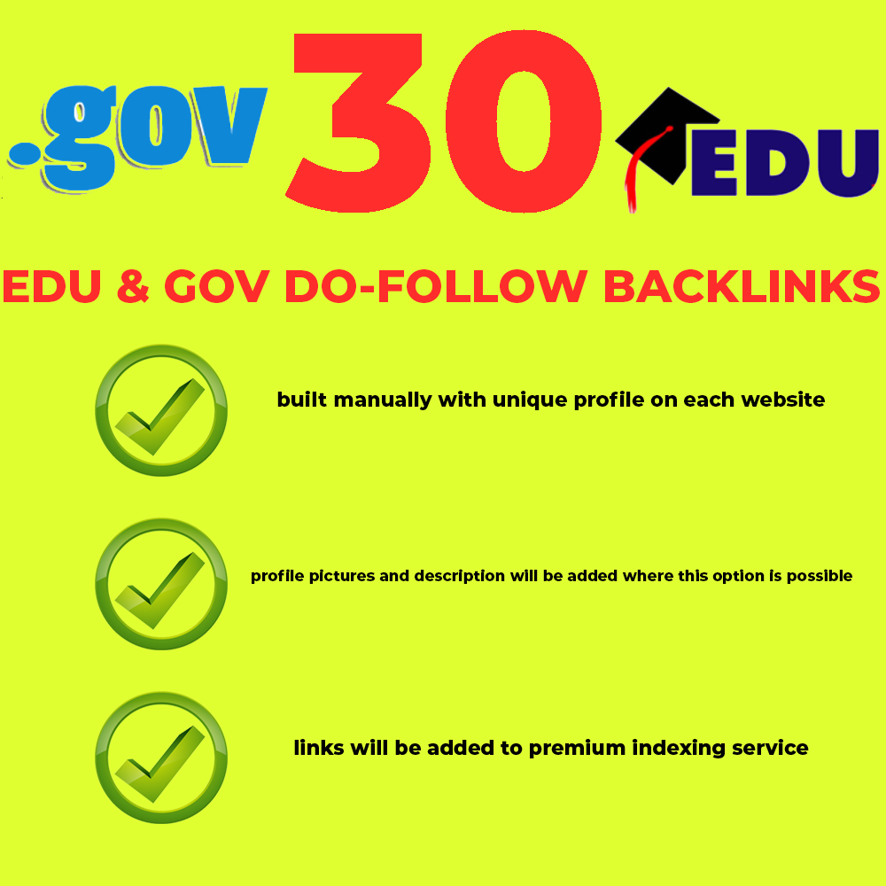 What are benefit from GOV and EDU links