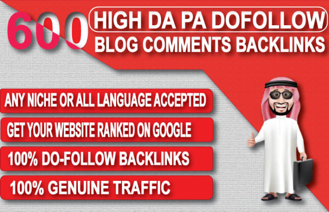 I will provide 600 dofollow blog comments seo backlinks with high da
