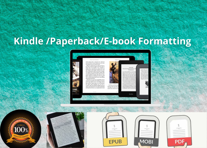 I will perfectly format your book for kdp,  ebook,  and print publishing