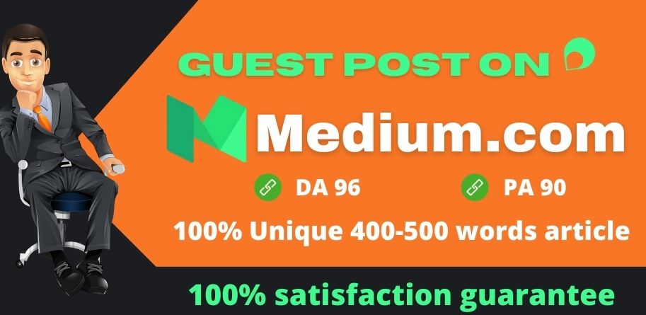 I will write and publish a guest post on medium. com