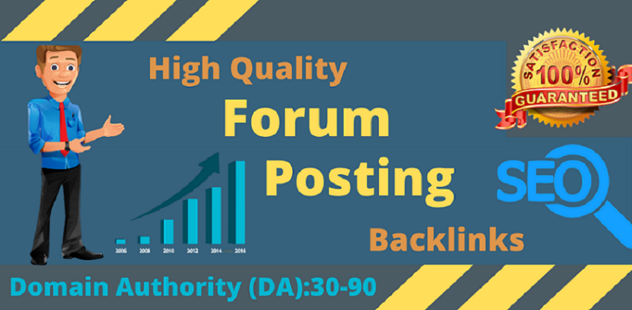 I will provie you 70+ high quality forum posting SEO backlinks