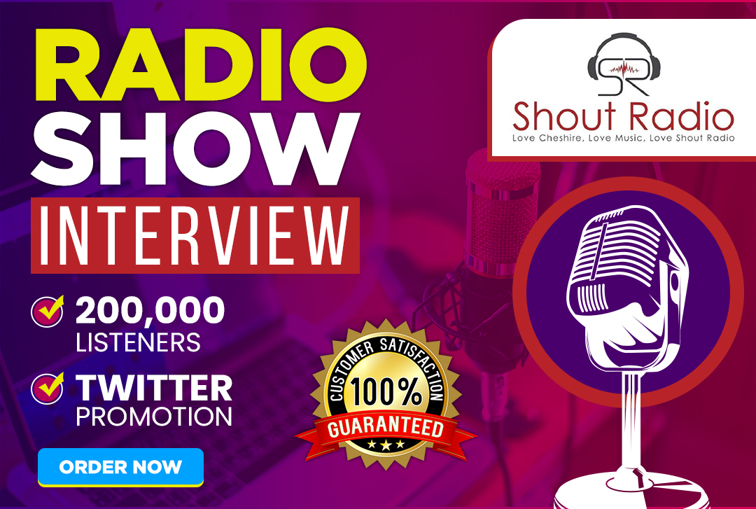 I will do an in-depth interview on my radio show