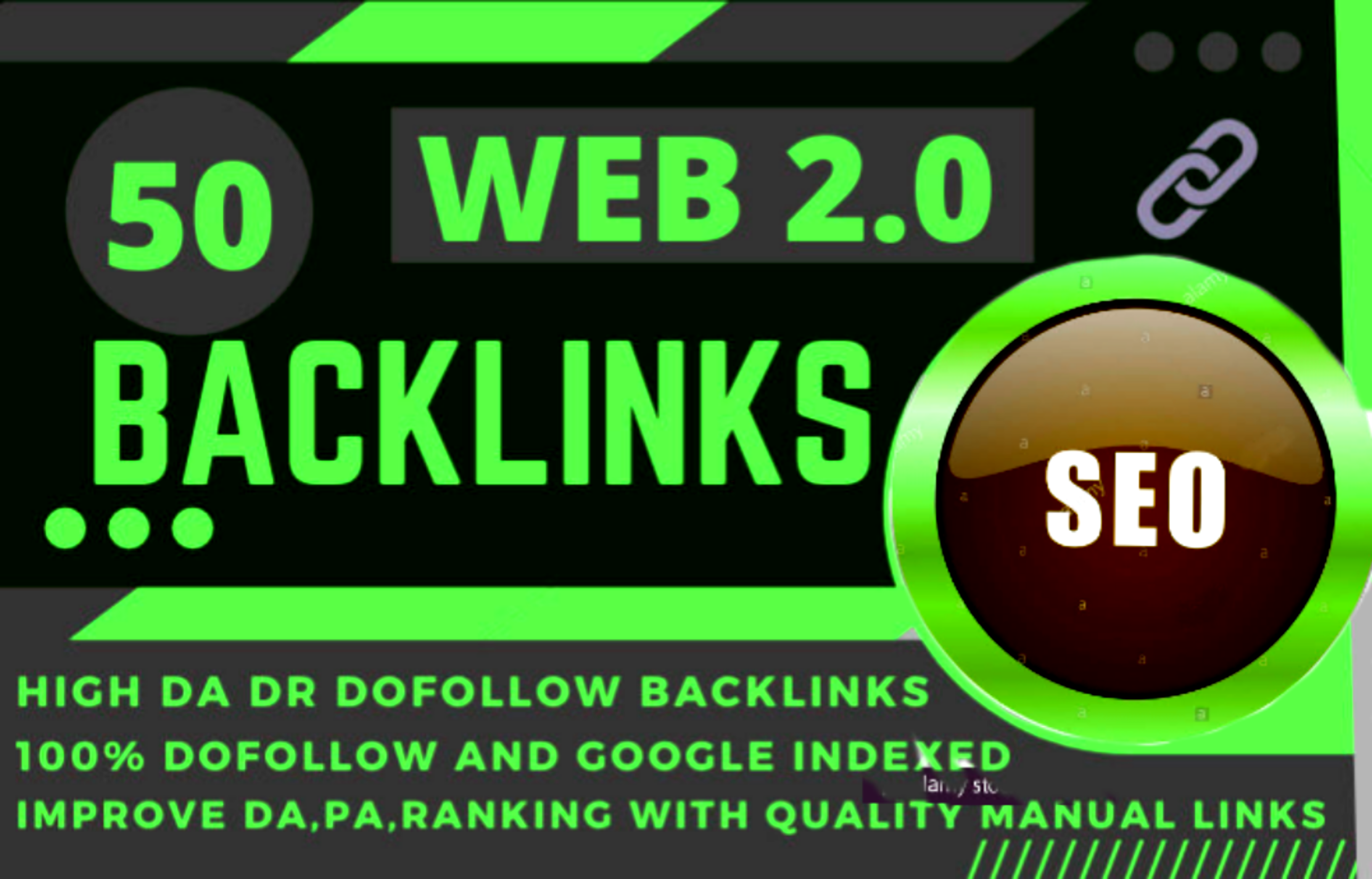 I will make you manually 50 web 2.0 with High DA permanent backlinks