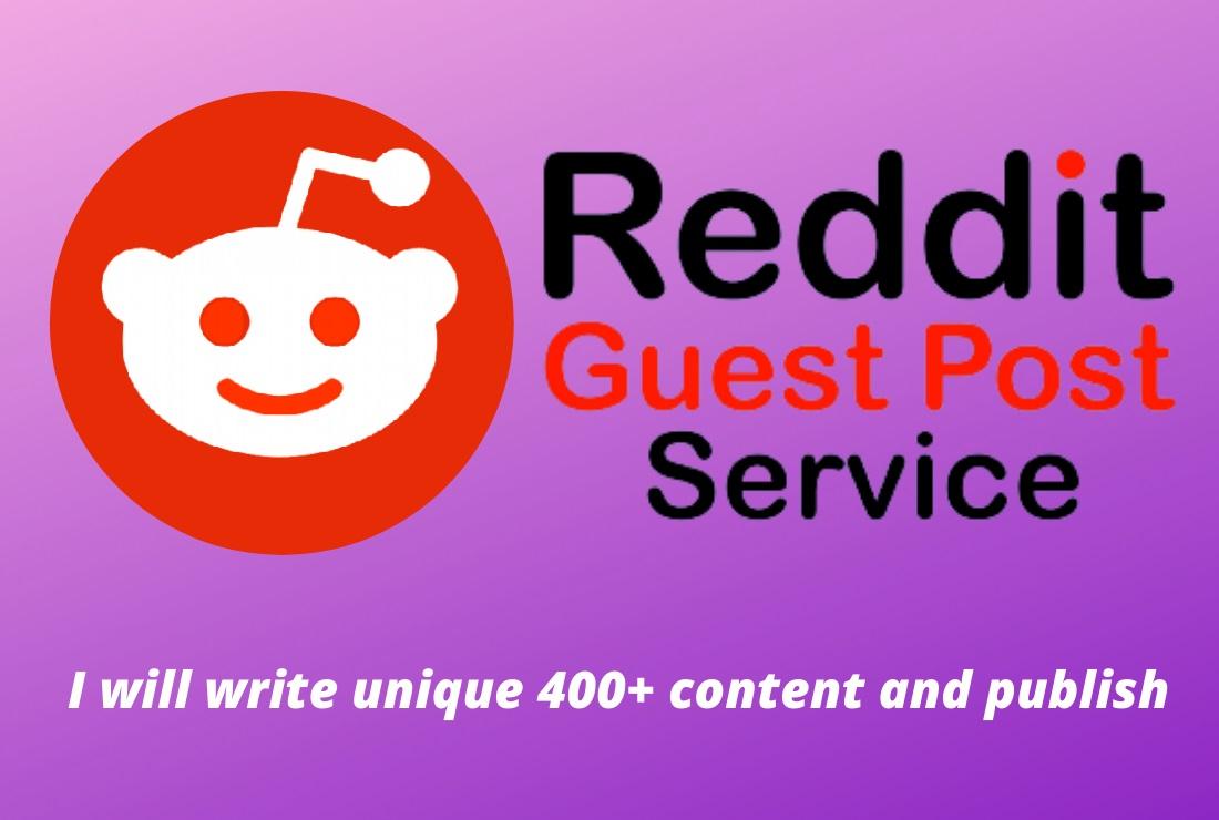 Write And Publish Guest Post SEO Backlink On DA91 Reddit. com