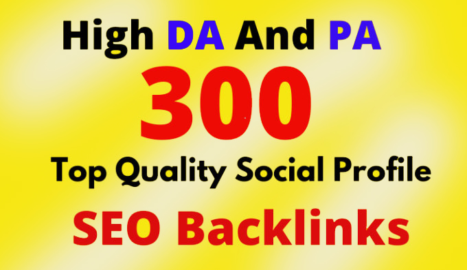 I will do high authority profile with do follow SEO backlinks white hat link building