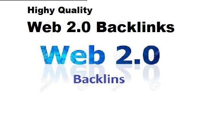 I will web 2 .0 backlinks with rank your website